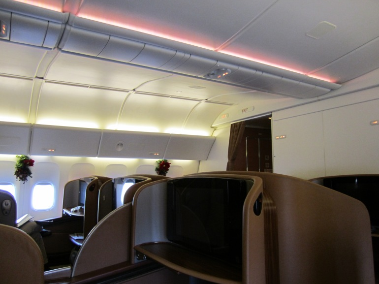 First Class on Singapore Airlines B777-300ER from Singapore